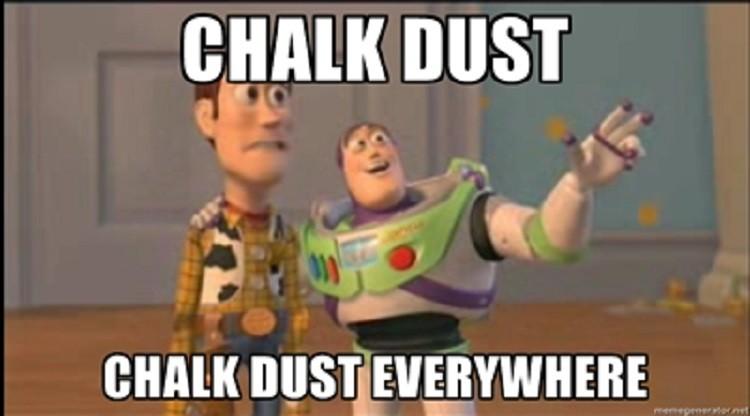chalk-dust-everywhere
